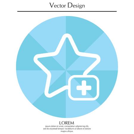 estimation: Star favorite sign web icon. Illustration