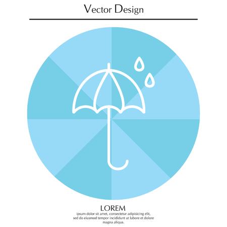 brolly: Umbrella icon line