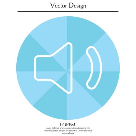 Volume low sign. line icon