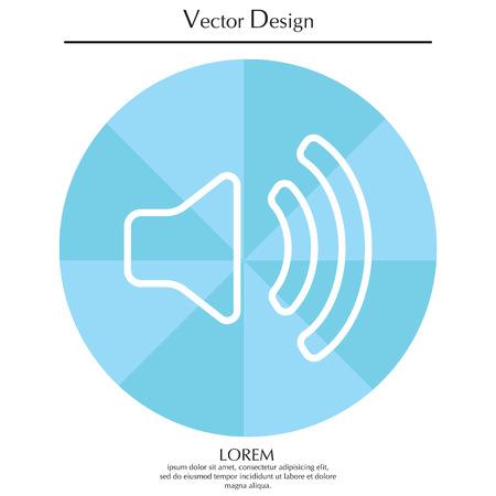 Volume high line icon. vector design.