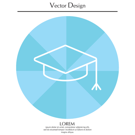academia: Graduation hat cap line art icon
