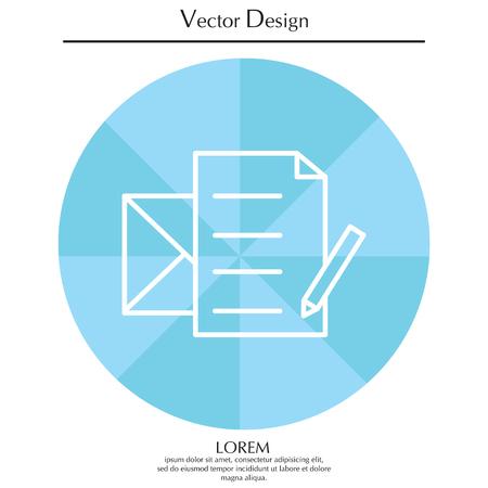 Write a message icon Illustration
