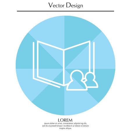 worn paper: Read data icon Illustration