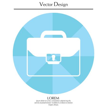 Briefcase icon, vector illustration.