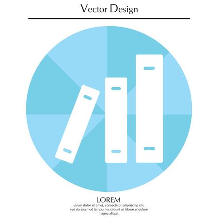 Archive folders vector icon Illustration