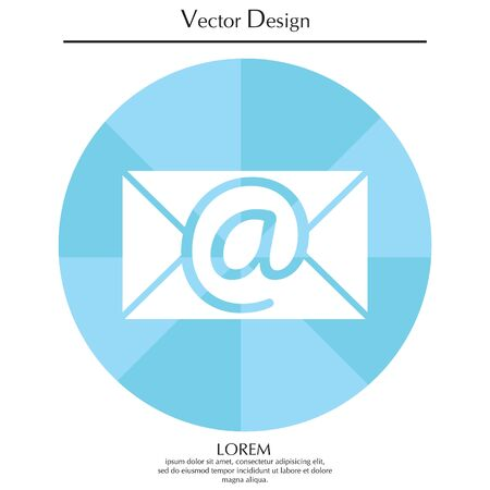 E-mail icon. Vector illustration