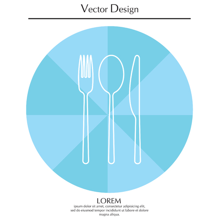 Menu vector line icon Illustration
