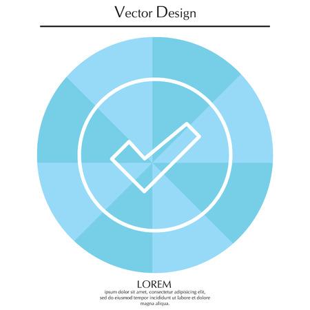Check box line icon Illustration