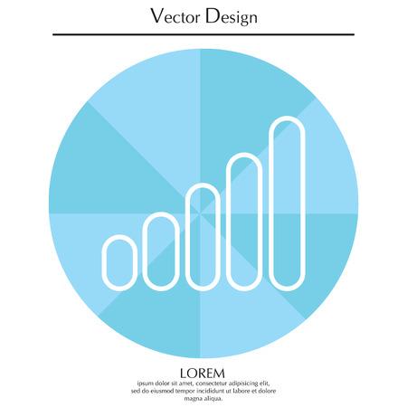 Graph line icon