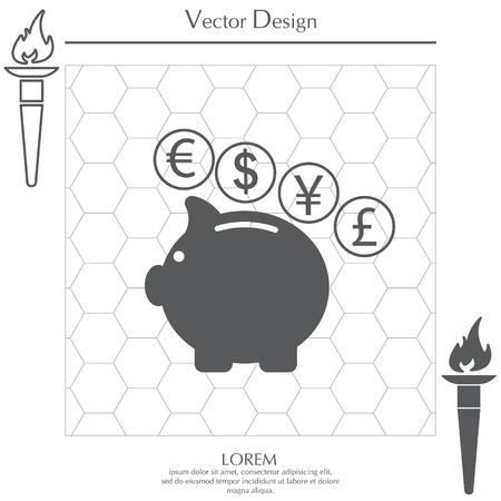 investor: piggy bank icon