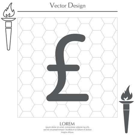 sterling sign, vector design for website