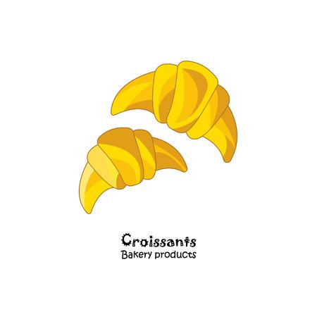 Color vector illustration. Croissants icon