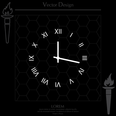 Clock Icon. Vector illustration