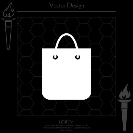 shopping bag - vector icon
