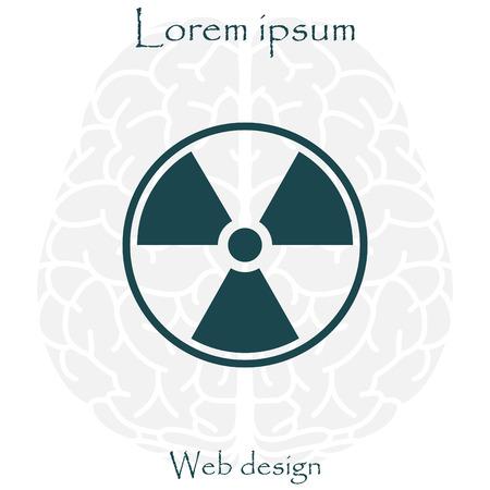 plutonium: Flat radiation icon