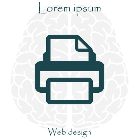 inkjet: Printer icon, vector illustration. Flat design style Illustration