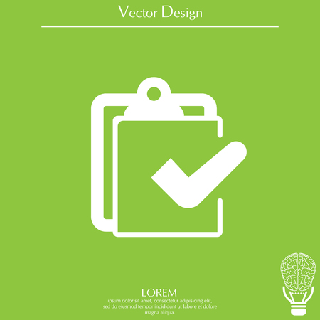 checklist icon, vector illustration