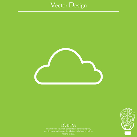 Cloud icon. Vector illustration Ilustrace