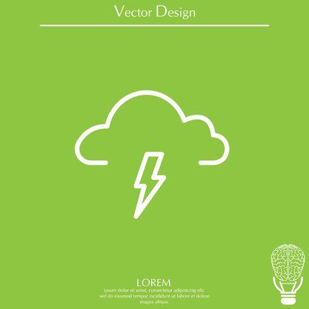 weather (thunderstorm) icon Illustration