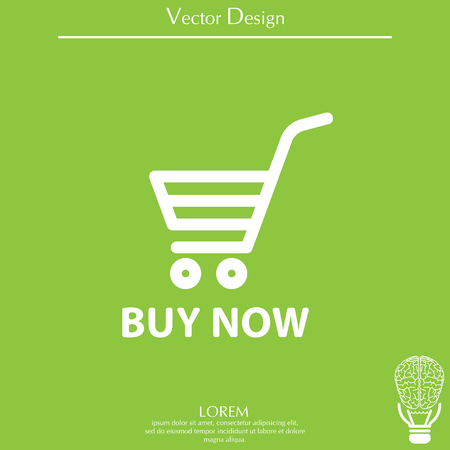 simple store: shopping cart (buy now) icon Illustration