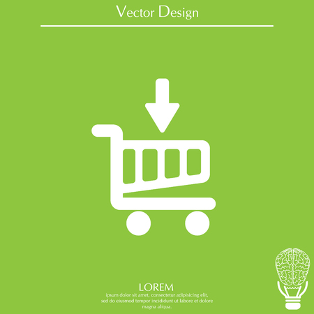 buy now: shopping cart (basket) icon Illustration