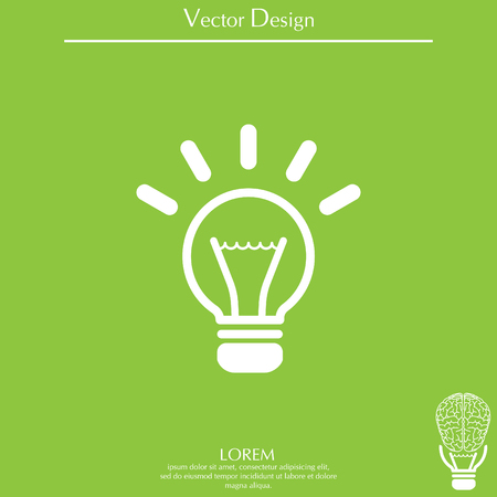 light sign ideas (lightbulb), web icon. vector design Illustration