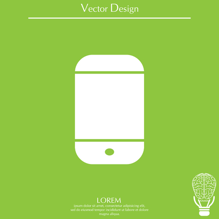 lcd: smartphone icon, vector illustration