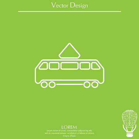 Tram icon Stock Vector - 74870346
