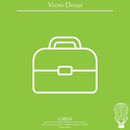 Briefcase, linear icon Illustration