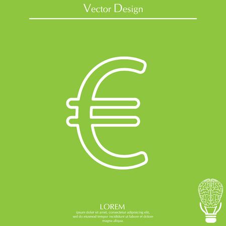 Euro line icon. Vector illustration.