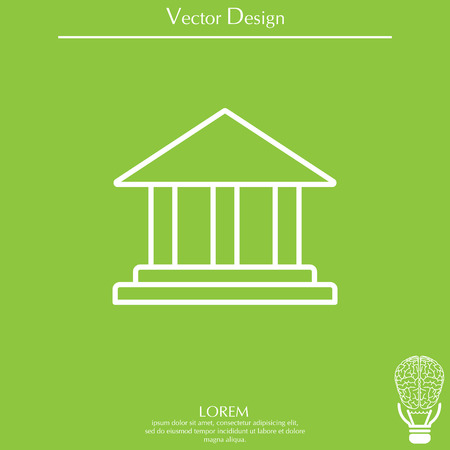 supreme court: Museum building icon