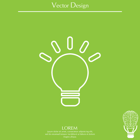 lightbulb line icon. vector design