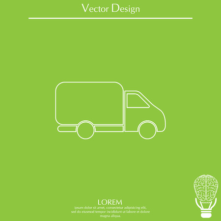 Delivery Truck line icon. Vector illustration. Illustration