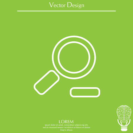 Zoom out, web line icon. Vector design Illustration