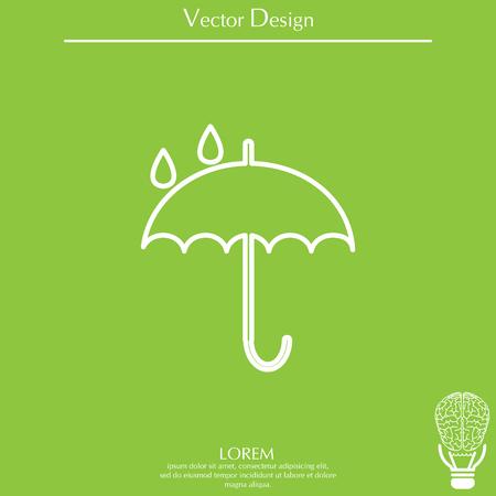 Umbrella line icon Ilustrace