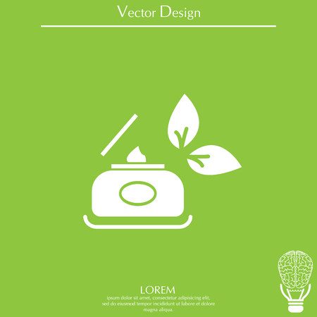 Vector cream icon
