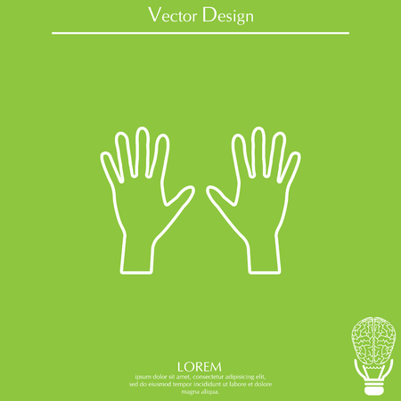Hand line icon vector