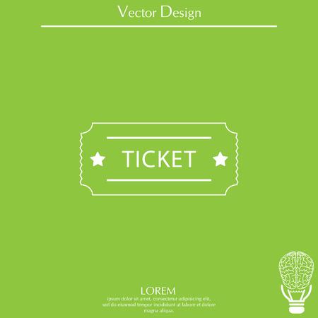 Ticket icon. Vector illustration. Illustration