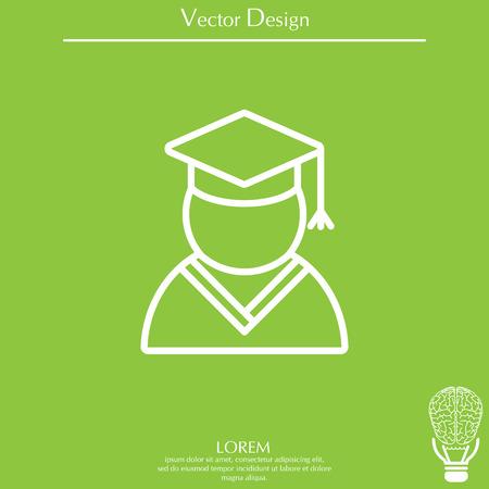Graduation cap line icon