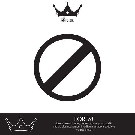 forbid: restricted icon, vector design website Illustration