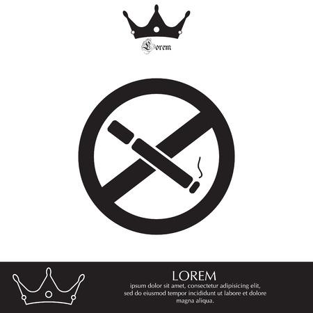 abstain: No smoking sign vector Illustration