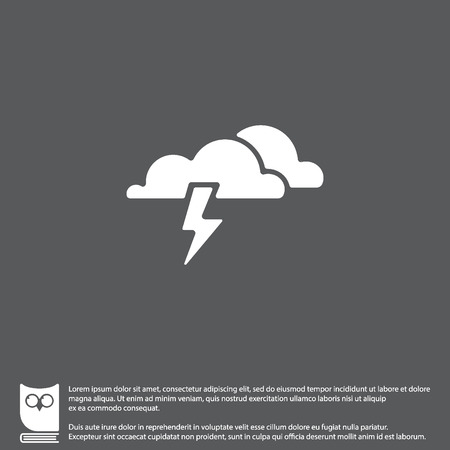 Web icon. Haze (storm), clouds. Thunderclouds