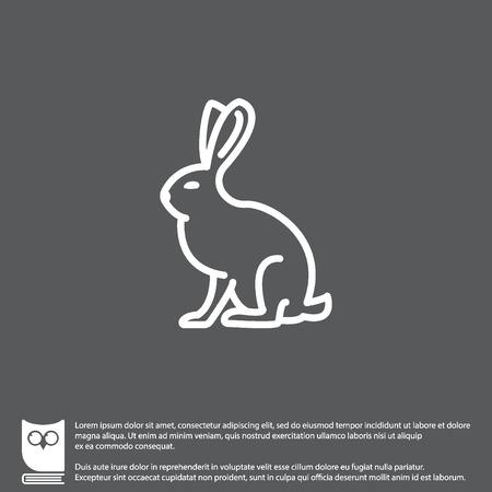 Web line icon. Hare, rabbit