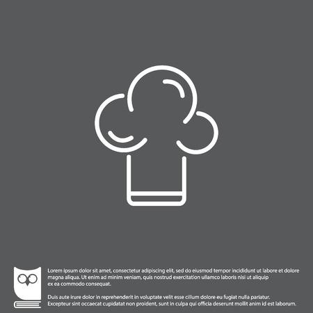 Web line icon. Chef hat