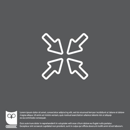 Web line icon. Overlapping arrow Illustration
