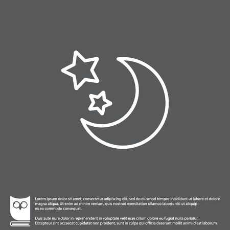 Web line icon. Moon and Stars