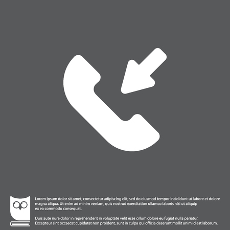 Web icon. Incoming call Illustration