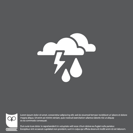 Web icon. Haze (storm), clouds, and rain. Thunderclouds