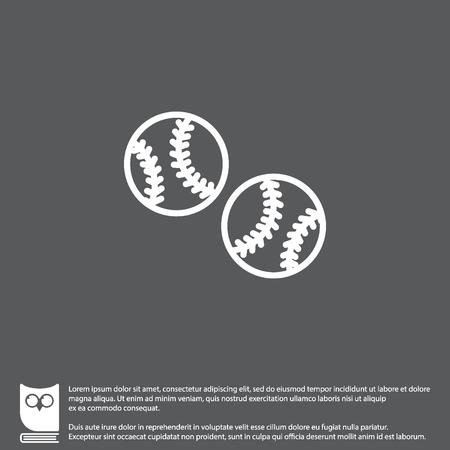 Web line icon. Baseball