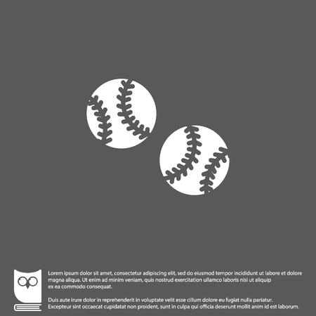 Web icon. Baseball